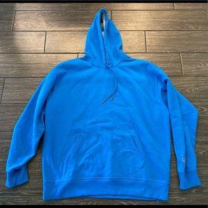 Champion Hooded Sweatshirt in Blue Size 2XL